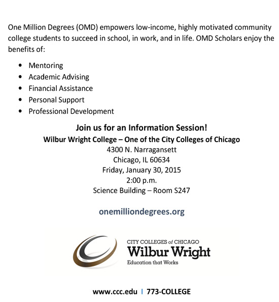 One Million Degrees Information Session 2015